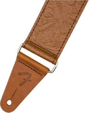 Fender Tooled Leather Guitar Strap 2'' Brown – pasek do gitary