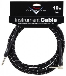 Kabel instrumentalny Fender Custom Shop 10' CBL BLK TWEED kątowy