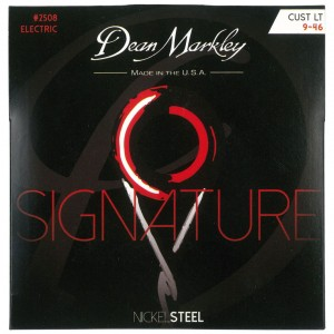 Struny do gitary elektrycznej Dean Markley Signature Nickel Steel 2508 Custom Light 9-46