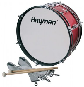 "Bęben marszowy Hayman Junior 18"" JMDR-1807 red"