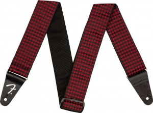 Pasek do gitary Fender Houndstooth Strap Red