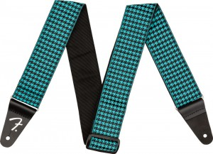 Pasek do gitary Fender Houndstooth Strap Teal