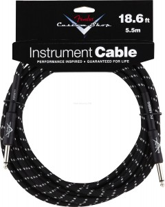 Kabel instrumentalny Fender Custom Shop 18,6' CBL BLK TWEED